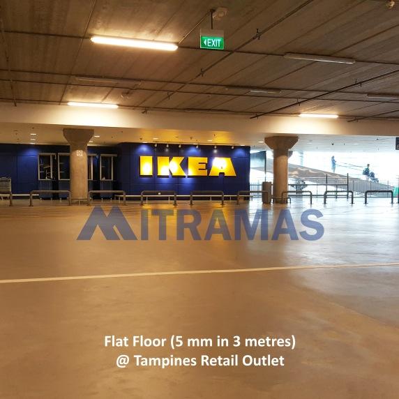 Flat Floor (5 mm in 3 metres) @ Tampines Retail Outlet