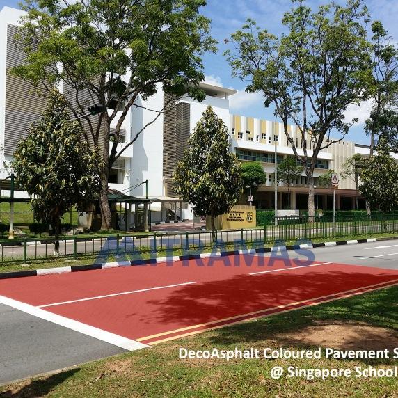 DecoAsphalt Coloured Pavement System @ Singapore School Zones